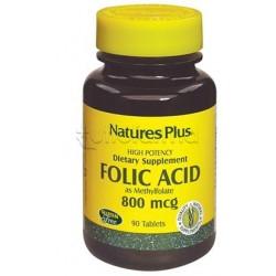 Natures Plus Acido Folico Integratore di Acido Folico 90 Tavolette
