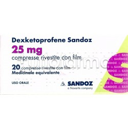 Dexketoprofene Sandoz 20 Compresse 25 Mg Antinfiammatorio ed Antidolorifico