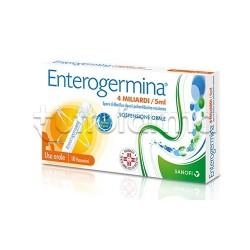 Enterogermina 10 Flaconcini 4 Miliardi di Spore Attive Fermenti Lattici 5 ml