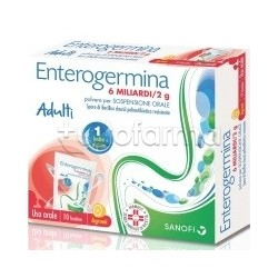 Enterogermina Adulti 6 Miliardi Fermenti Lattici 10 Bustine