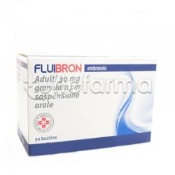 Fluibron Granulato 30 Bustine 30 mg Mucolitico per Tosse e Catarro