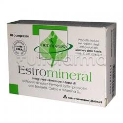 Estromineral Minerali 40 Compresse Integratore per Disturbi Ciclo e Menopausa