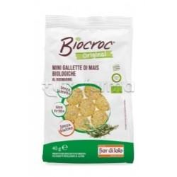 Fior Di Loto Biocroc Mini Gallette Di Mais Al Rosmarino Alimento Biologico 40g.