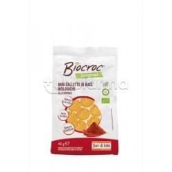 Fior Di Loto BioCroc Mini Gallette Mais Al Gusto Di Paprika Alimento Biologico 40g