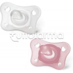 Chicco Physioforma Gommottino Ciuccio in Silicone Bimba 0-2 Mesi 2 Pezzi