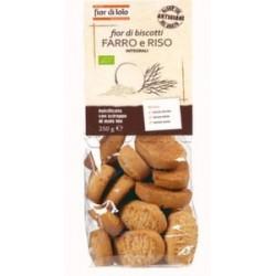 Fior Di Loto Biscotti Di Farro e Riso Dolciumi Biologici 250g