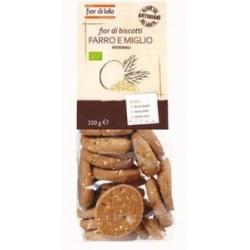 Fior Di Loto Biscotti Fior Di Biscotti Al Farro e Miglio Dolciume Biologico 250g
