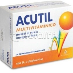 Acutil Multivitaminico Integratore Energetico 20 Compresse Effervescenti