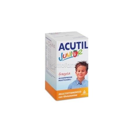 ACUTIL MULTIVITAMINICO JUNIOR FRAGOLA 40 COMPRESSE
