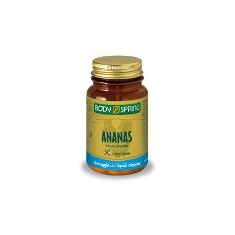 Body Spring Integratore Alimentare Drenaggio Liquidi Ananas 50 Compresse