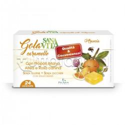 Sanavita Gola Caramelle Arancia per Benessere della Gola 24 Caramelle