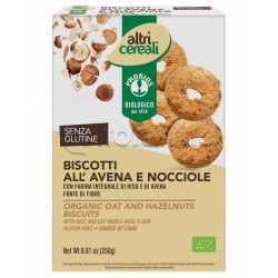 Probios Altri Cereali Biscotti all'Avena e Nocciole Senza Glutine 250g