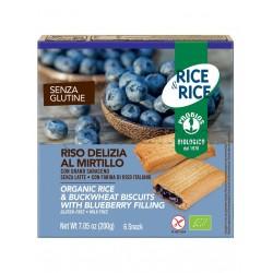 Probios Rice&Rice Riso Delizia al Mirtillo Senza Glutine 6 Snack