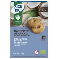 Probios Rice&Rice Biscotti Baronetti al Cocco Senza Glutine 250g
