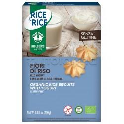 Probios Rice&Rice Biscotti Fiori di Riso allo Yogurt Senza Glutine 250g