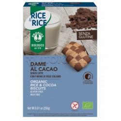 Probios Rice&Rice Biscotti Dame al Cacao Senza Glutine 250g