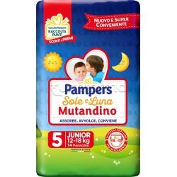 Pampers Sole e Luna Mutandino Junior Pannolini per Bambini Taglia 5 (12-18Kg) 14 Pezzi