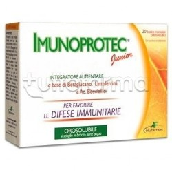 Imunoprotect Junior Integratore per Difese Immunitarie dei Bambini 20 Bustine