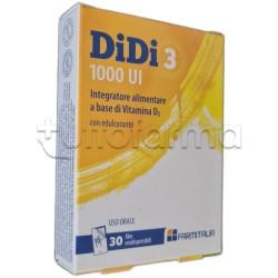 Didi 3 1000 UI Integratore con Vitamina D3 30 Film Orodispersibili