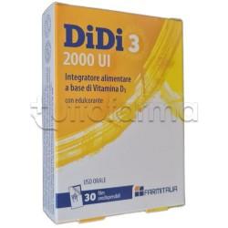 Didi 3 2000 UI Integratore con Vitamina D3 30 Film Orodispersibili