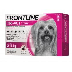 Frontline Tri-Act Antiparassitario per Cani 2-5Kg 6 Pipette