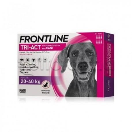 Frontline Tri-Act Antiparassitario per Cani 20-40Kg 6 Pipette