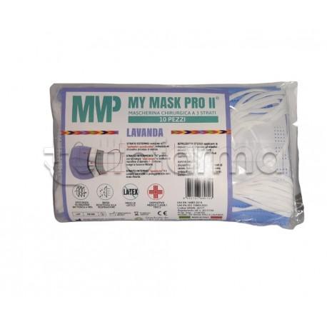 Mascherina Chirurgica Monouso a Triplo Strato My Mask Pro Lavanda - Confezione 10 Pezzi - 20 Centesimi a Mascherina
