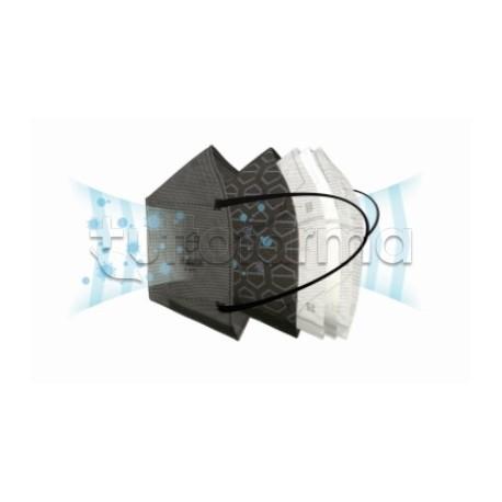 Mascherina Respiratoria Filtrante FFP2 Av Mask Pro con Grafene Antibatterico - Confezione da 5 Pezzi