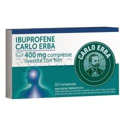 Ibuprofene Carlo Erba 10 Compresse 400 mg Antinfiammatorio ed Antidolorifico