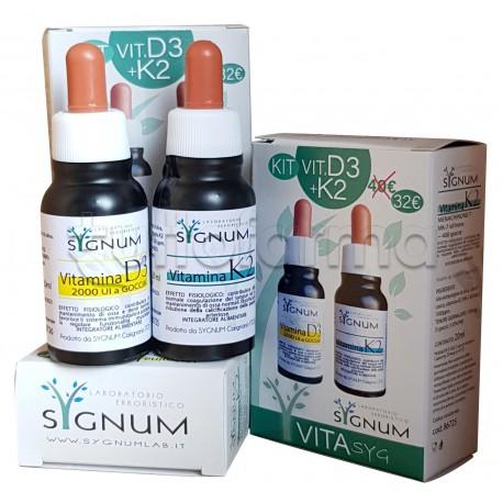 Sygnum Vitasyg Kit Convenienza con Vitamina D3 e Vitamina K2 20+20ml