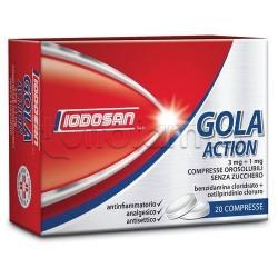 Iodosan Gola Action 20 Compresse Orosolubili 3 mg + 1 mg per Mal di Gola