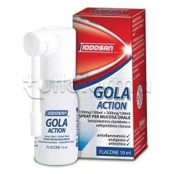 Iodosan Gola Action Spray 0,15% + 0,5% per Mal di Gola