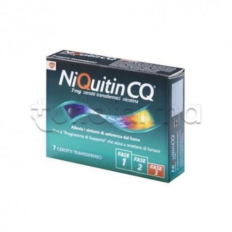 NiQuitin 7 Cerotti Transdermici 7 mg/24 h Nicotina per Disassuefazione da Sigarette