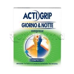 Actigrip Giorno & Notte 12+ 4 Compresse per Influenza e Raffreddore