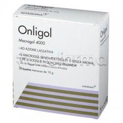 Onligol Macrogol 4000 Integratore per Stitichezza 20 Bustine