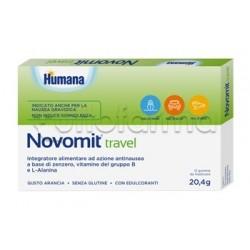 Humana Novomit Travel Integratore per Nausea 12 Gomme Da Masticare