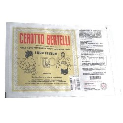 Cerotto Bertelli Grande Cm 16 x 24 Antinfiammatorio ed Antidolorifico