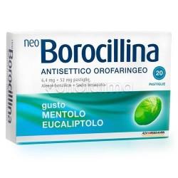 Neoborocillina Antisettico Orofaringeo 20 Pastiglie Menta per Mal di Gola