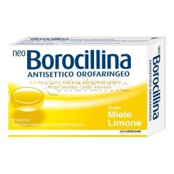 Neoborocillina Antisettico Orofaringeo 20 Pastiglie Miele per Mal di Gola