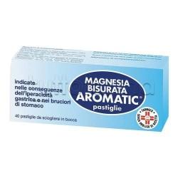 Magnesia Bisurata Aromatic 40 Pastiglie per Acidità e Bruciore di Stomaco