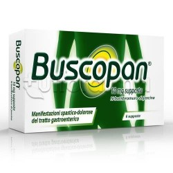 Buscopan 6 Supposte 10 Mg per Spasmi e Coliche