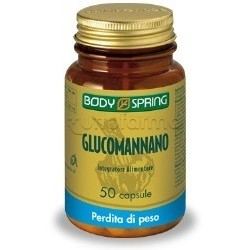 Body Spring Glucomannano Integratore Alimentare Perdita di Peso 50 Compresse