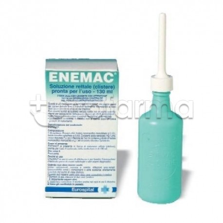 Enemac Flacone 130 ml 16,1+6/100 ml Clistere