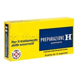 Preparazione H 12 Supposte 23 Mg per Emorroidi