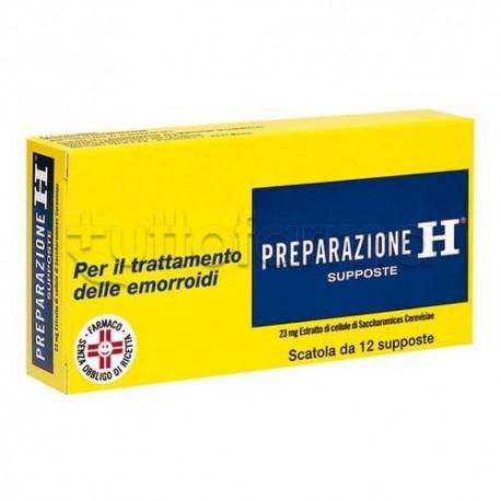 Preparazione H 12 Supposte 23 Mg per Emorroidi