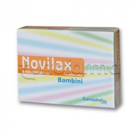 Novilax Bambini 6 Microclismi 3 ml Lassativi
