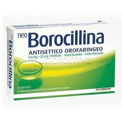 NeoBorocillina 20 Pastiglie 1,2 + 20 mg Gusto Menta per Mal di Gola