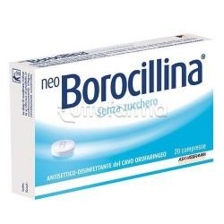 Neoborocillina 20 Pastiglie Senza Zucchero per Mal di Gola