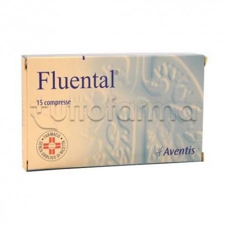 Fluental Adulti 15 Compresse 300 mg + 150 mg per Febbe e Catarro