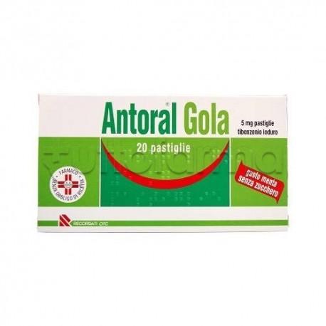 Antoral Gola 20 Pastiglie 5 mg Senza Zucchero Menta per Mal di Gola